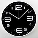 ราคาถูก นาฬิกาติดผนัง-พลาสติกพลาสติกร่วมสมัย& โลหะรอบในร่มในร่ม / กลางแจ้งนาฬิกาแขวน