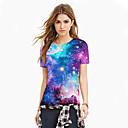 Χαμηλού Κόστους Walkie Talkie-Γυναικεία T-shirt Γαλαξίας / 3D / Γραφική Στάμπα Βυσσινί