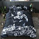 povoljno 3D poplune-dom tekstil 3d posteljina set duvet pokriti s jastučnicom 3pcs spavaća soba duvet pokriva postavlja posteljinu lubanje