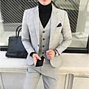 billiga Kragar, selar och koppel-Enfärgad / Rutig Skräddarsydd passform Bomull Kostym - Trubbig Singelknäppt 1 Knapp / kostymer