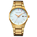 ราคาถูก ภาพวาดแอบสแตรก-HANNAH MARTIN สำหรับผู้ชาย นาฬิกาข้อมือสแตนเลส นาฬิกาอิเล็กทรอนิกส์ (Quartz) สแตนเลส ดำ / เงิน / ทอง ปฏิทิน นาฬิกาใส่ลำลอง ระบบอนาล็อก ไม่เป็นทางการ แฟชั่น - สีทอง สีดำ สีเงิน / หนึ่งปี
