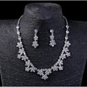 povoljno Komplet nakita-Žene Kristal Svadbeni nakit Setovi Geometrijski Osnovni Naušnice Jewelry Pink Za Vjenčanje Party 1set