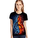 billige T-skjorter og singleter til herrer-Store størrelser T-skjorte Dame - Fargeblokk / 3D / Grafisk, Trykt mønster Gatemote / overdrevet Blå