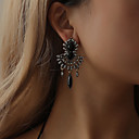 ราคาถูก ตุ้มหู-สำหรับผู้หญิง ต่างหู ต่างหู เครื่องประดับ สีดำ / สีน้ำเงินกรมท่า สำหรับ Stage เทศกาลคานาวาล คลับ 1 คู่