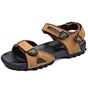 ราคาถูก รองเท้ากีฬาสำหรับผู้ชาย-สำหรับผู้ชาย รองเท้าสบาย ๆ หนัง ตก / ฤดูร้อนฤดูใบไม้ผลิ คลาสสิก / ไม่เป็นทางการ รองเท้าแตะ ระบายอากาศ สีดำ / สีน้ำตาล