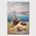 povoljno Slike krajolika-Hang oslikana uljanim bojama Ručno oslikana - Pejzaž Apstraktni pejsaži Klasik Vintage Bez unutrašnje Frame