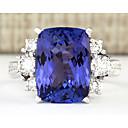 Χαμηλού Κόστους Χαραγμένο Δαχτυλίδια-Γυναικεία Band Ring Δαχτυλίδι Cubic Zirconia 1pc Μπλε Χαλκός Geometric Shape Στυλάτο Πολυτέλεια Πάρτι Δώρο Κοσμήματα Κλασσικό Απίθανο