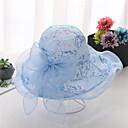Χαμηλού Κόστους Καπέλο για πάρτι-Γυναικεία Φλοράλ Ενεργό Βασικό χαριτωμένο στυλ Δίχτυ Καπέλο ηλίου Άνοιξη Καλοκαίρι Μπεζ Γκρίζο Βυσσινί