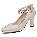 ราคาถูก รองเท้าส้นสูงผู้หญิง-สำหรับผู้หญิง Synthetics ตก / ฤดูร้อนฤดูใบไม้ผลิ หวาน / minimalism รองเท้าส้นสูง ส้นป้าน ไข่มุก สีดำ / ผ้าขนสัตว์สีธรรมชาติ / พรรคและเย็น