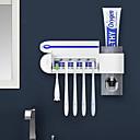 זול מחזיק מברשות שיניים-2 in 1 uv אור אולטרה סגול מברשת שיניים מברשת שיניים מחזיק אוטומטיים משחת שיניים משקה dispenser הבית האמבטיה set