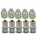 billige Advarsellys-10pcs 1156 Bil Elpærer 3 W SMD 3014 600 lm 50 LED Blinklys / Bremselys / Reversering (backup) lys Til Universell Alle år