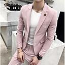 billiga Tvättställsblandare-Fuchsia / Salvia / Jadeite Enfärgad Skräddarsydd passform Polyester Kostym - Trubbig Singelknäppt Två knappar / kostymer