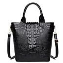 ราคาถูก กระเป๋า Totes-สำหรับผู้หญิง Bear / ซิป PU กรเป๋าหิ้ว สีทึบ สีดำ / สีน้ำตาล / ฤดูใบไม้ร่วง & ฤดูหนาว