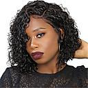 זול פיאות תחרה משיער אנושי-שיער ראמי תחרה מלאה חזית תחרה פאה תספורת אסימטרית בסגנון שיער ברזיאלי מתולתל אפרו קינקי טבעי פאה 130% 150% 180% צפיפות שיער עיצוב אופנתי רך נשים הלבשה קלה סקסי ליידי בגדי ריקוד נשים אורך בינוני