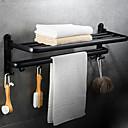 זול מדפי מקלחת-צדף לחדר האמבטיה עיצוב חדש / מגניב מודרני פלדת אל חלד / ברזל 1pc כפול מותקן על הקיר