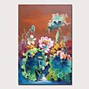 povoljno Apstraktno slikarstvo-Hang oslikana uljanim bojama Ručno oslikana - Cvjetni / Botanički Apstraktni pejsaži Klasik Vintage Bez unutrašnje Frame