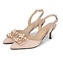 ราคาถูก ตุ้มหู-สำหรับผู้หญิง ไหม ฤดูร้อน / ฤดูร้อนฤดูใบไม้ผลิ หวาน / minimalism รองเท้าแต่งงาน ส้น Stiletto Pointed Toe หินประกาย / เพิร์ลเทียม สีดำ / แดง / สีน้ำตาลอ่อน / งานแต่งงาน / พรรคและเย็น