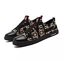 זול סניקרס לגברים-בגדי ריקוד גברים נעלי נוחות PU קיץ נעלי ספורט לבן / שחור