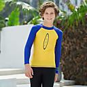 ราคาถูก ชุดดำน้ำ-Dive&Sail เด็กผู้ชาย Rash Guard Elastane Rash Guard Swim shirt การป้องกันรังสียูวี ระบายอากาศ แห้งเร็ว แขนยาว Snorkeling กีฬาทางน้ำ ลายต่อ ฤดูใบไม้ร่วง ฤดูใบไม้ผลิ ฤดูร้อน / ความยืดหยุ่นสูง