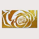 ราคาถูก ภาพวาดแอบสแตรก-ภาพวาดสีน้ำมันแขวนทาสี มือวาด - แอ็ปสแต็ก ลวดลายดอกไม้ / เกี่ยวกับพฤษศาสตร์ ที่ทันสมัย รวมถึงด้านในกรอบ