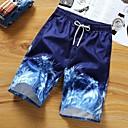 זול מכנסיים ושורטים לגברים-בגדי ריקוד גברים בסיסי שורטים מכנסיים - צמחים תלתן לבן אודם XXL XXXL XXXXL