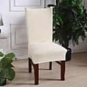 baratos Cobertura de Cadeira-capa para cadeira slipcovers arroz branco sólido impresso poliéster / lavável na máquina / resistência a derrapagens