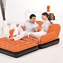 ราคาถูก ถุงนอนและอุปกรณ์การนอนในการตั้งแคมป์-Bestway® ที่นอนยาง Air Bed โซฟาพองลม กลางแจ้ง มัลติฟังก์ชั่ Portable พองได้อย่างรวดเร็ว ที่สามารถพับได้ รวมตัว 152*188*64 cm ชายหาด แคมป์ปิ้ง แคมป์ปิ้ง / การปีนเขา / เที่ยวถ้ำ / เตียงใหญ่