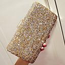 baratos Clutches & Bolsas de Noite-Mulheres Pedrarias PU Bolsa de Festa Rhinestone Crystal Evening Bags Sólido Preto / Dourado / Prata