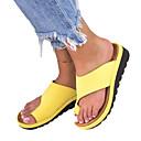 ราคาถูก รองเท้าแตะ & Flip-Flops ผู้หญิง-สำหรับผู้หญิง PU ฤดูร้อน ไม่เป็นทางการ / minimalism รองเท้าแตะและรองเท้าแตะ รองเท้าส้นตึก ปลายกลม สีเหลือง / เงิน / เสือดาว