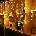 Χαμηλού Κόστους LED Φωτολωρίδες-4m * 0,6m Σετ Φώτων / Φώτα σε Κορδόνι 96 LEDs Θερμό Λευκό / Άσπρο / Μπλε Αδιάβροχη / Πάρτι / Διακοσμητικό 220-240 V / 110-120 V 1pc