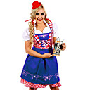 Χαμηλού Κόστους Oktoberfest-Oktoberfest Dirndl Trachtenkleider Γυναικεία Φόρεμα βαυάρος Στολές Πράσινο του τριφυλλιού Μπλε Ωκεανού Jadeite