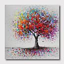 Χαμηλού Κόστους Πίνακες Τοπίων-ζωγραφισμένο στο χέρι τεντωμένο καμβά ελαιογραφίας έτοιμο να κρεμάσει αφηρημένο στυλ υλικό υψηλή ποσότητα δέντρα τοίχο τέχνη μοντέρνα δέντρα πορφυρό