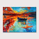 baratos Pinturas Abstratas-Pintura a Óleo Pintados à mão - Abstrato Paisagem Modern Sem armação interna