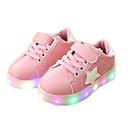 billige Babybukser-Jente LED / Lysende sko PU Treningssko Toddler (9m-4ys) / Små barn (4-7år) Svart / Hvit / Grønn Vår / Høst / Gummi