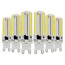 baratos Lâmpadas LED em Forma de Espiga-Ywxlight® 6 pcs g9 dimmable lâmpada de milho de silicone 3014 smd 152led lâmpada de poupança de energia 7 w (equivalente a halogênio 70w) lâmpada led para iluminação de casa 110-130 v 220-240 v