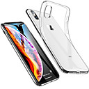 billige iPhone-etuier-Etui Til Apple iPhone 11 / iPhone 11 Pro / iPhone 11 Pro Max Stødsikker / Ultratyndt / Transparent Bagcover Ensfarvet Blødt TPU