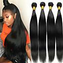 זול אביזרים למקרנים-4 חבילות שיער מלזי ישר 100% רמי שיער לארוג חבילות טווה שיער אדם שיער Bundle פתרון חפיסה אחת 8-28inch צבע טבעי שוזרת שיער אנושי משיי אופנתי עבה תוספות שיער אדם