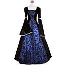 Χαμηλού Κόστους Στολές της παλιάς εποχής-Πριγκίπισσα Μαρία Αντωνιέτα Floral Style Rococo Victorian Αναγέννησης Φορέματα Κοστούμι πάρτι Χορός μεταμφιεσμένων Γυναικεία Δαντέλα Στολές Βαθυγάλαζο Πεπαλαιωμένο Cosplay Χριστούγεννα Halloween