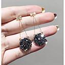 ราคาถูก ตุ้มหู-สำหรับผู้หญิง Drop Earrings Stylish ง่าย ต่างหู เครื่องประดับ สีทอง สำหรับ ทุกวัน 1 คู่