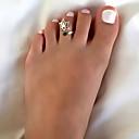 povoljno Modno prstenje-Žene Prsten Smola 1pc Zlato Srebro Legura Vintage Boho Dnevno Praznik Jewelry Šupalj Lotus Heart