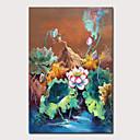 ราคาถูก ภาพวาดวิวทิวทัศน์-ภาพวาดสีน้ำมันแขวนทาสี มือวาด - ภูมิประเทศ ลวดลายดอกไม้ / เกี่ยวกับพฤษศาสตร์ คลาสสิก วินเทจ โดยไม่ต้องภายในกรอบ