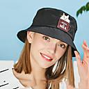 ราคาถูก ที่จัดเก็บของในครัว-Hiking Hat หมวกบักเก็ท หมวก 1 ชิ้น กันลม ป้องกันแดด ระบายอากาศ Ultraviolet Resistant Printing ฝ้าย ฤดูใบไม้ผลิ สำหรับ สำหรับผู้หญิง แคมป์ปิ้ง & การปีนเขา การตกปลา การเดินทาง สีดำ