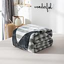 זול תכשיטי גוף-שמיכות מיטה / סופה לזרוק / שמיכות רב תכליתיות, אחיד / פסים / פשוט פלנל פליז חם יותר רך נוח סמיך