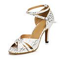 Χαμηλού Κόστους Παπούτσια χορού λάτιν-Γυναικεία Παπούτσια Χορού PU Παπούτσια χορού λάτιν Τακούνια Λεπτή ψηλή τακούνια Ασημί / Μπλε