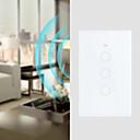 Χαμηλού Κόστους Παρακολούθηση αναλωσίμων-3 γκάντες τοίχο αφής πάνελ έξυπνο wifi διακόπτη τηλεχειρισμού