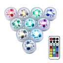 baratos Iluminação de Exteriores-10pçs 3 W Lâmpada Subaquática Impermeável / Controlado remotamente / Regulável Mudança 1.2 V Adequado para vasos e aquários 3 Contas LED