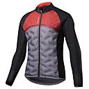 ราคาถูก ชุดดำน้ำ-SANTIC สำหรับผู้ชาย Cycling Jacket จักรยาน เสื้อแจ็คเก็ต สะท้อน กันลม ระบายอากาศ กีฬา เส้นใยสังเคราะห์ สแปนเด็กซ์ ตารางไขว้ ฤดูหนาว สีดำ / สีแดง ขี่จักรยานปีนเขา Road Cycling เสื้อผ้าถัก ขั้นสูง
