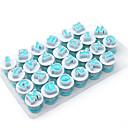 זול תאורת קישוט לרכב-26pcs פלסטי Multi-function 3D עשה זאת בעצמך Cake מסיבה עגול עוגות Moulds כלי Bakeware