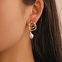ราคาถูก ถุงเท้าและชุดชั้นใน-สำหรับผู้หญิง Drop Earrings ต่างหู ทูโทน ง่าย เกี่ยวกับยุโรป แฟชั่น ค้อนทุบ ไข่มุก ต่างหู เครื่องประดับ สีทอง สำหรับ ปาร์ตี้ ทุกวัน Street ฮอลิเดย์ ทำงาน 1 คู่