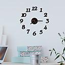 """ราคาถูก นาฬิกาติดผนัง-สไตล์สมัยใหม่ แฟชั่น อะคริลิค รอบ ในที่ร่ม 16"""" x 16"""" (40cm x 40cm)"""